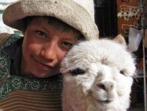 Peru, Junge mit Lama, Latin America Tours, Reisen