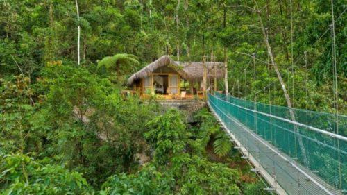 Costa Rica, Pacuare Lodge, Canopy Suite im Regenwald, Hängebrücke, Costa Rica