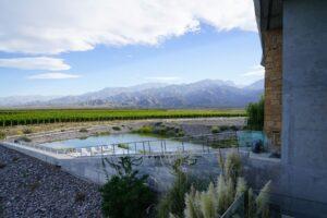 Argentinien, Mendoza, Pool der Casa de Uco, Valle de Uco, Latin America Tours